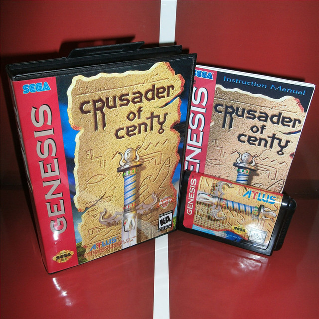 Crusader Of Centy  (no Save) US Cover with Box and Manual For Sega Megadrive Genesis Video Game Console 16 bit MD card