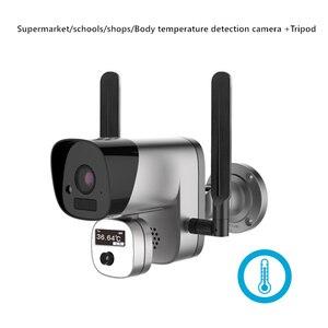 1080P écran numérique intelligent mesure de la température du corps infrarouge thermique imageur caméra fièvre haute température alarme avec trépied