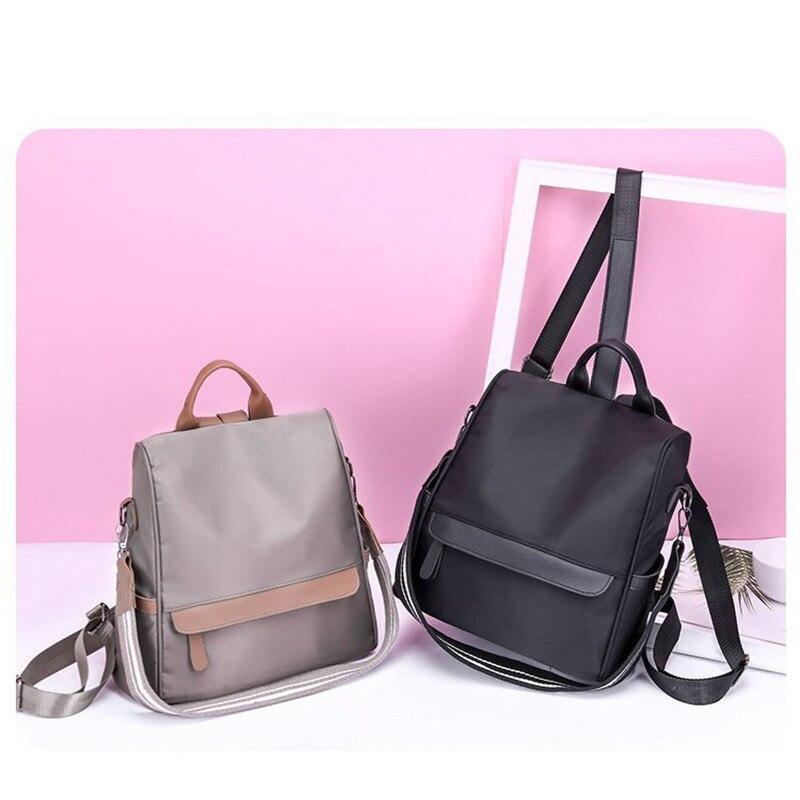 Женский нейлоновый водонепроницаемый тканевый рюкзак 2019 новый корейский Одноцветный маленький рюкзак для путешествий Повседневный