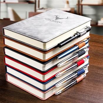 360 страниц супер толстый воск чувство кожа A5 дневник ежедневный бизнес офисный Рабочий блокнот S Блокнот Дневник Школьные принадлежности