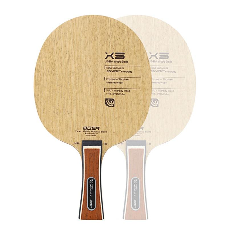 BOER X5 Table Tennis Sports Paddle Shakehand/Penhold Grit Ping Pong Training Bat