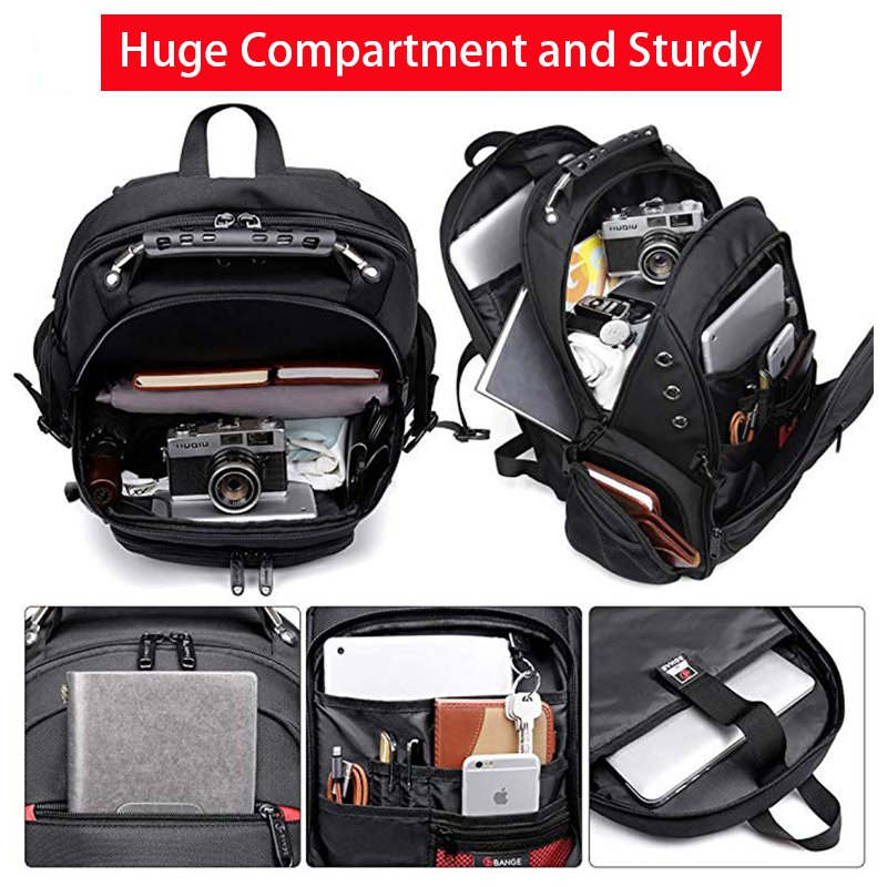 15.6 Anti-Theft Laptop Backpack  - Durable 45L S Strap Design 1