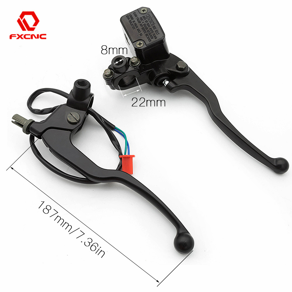 22mm Handlebar CNC Motorcycle Brake Clutch Master Cylinder Hydrualic Brake Lever For Pulsar RS NS 150 160 200 NS200 <font><b>RS200</b></font> image