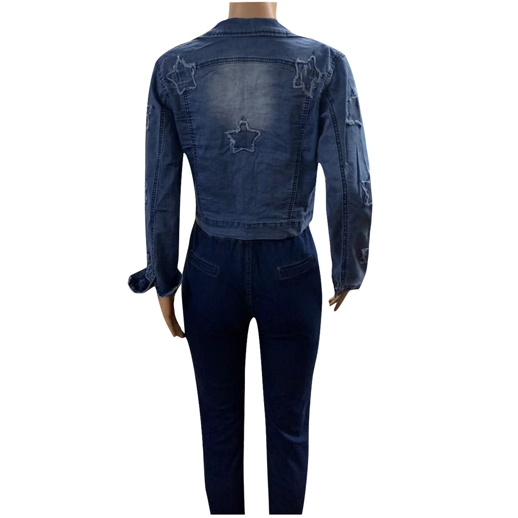 Hcbb930fc31d2445d974c3a5e4c154ac2t 2019 Autumn And Winter Women Denim Jacket Vintage Cropped Short Denim Coat Long-sleeve Slim Jeans Coat For Women#J30