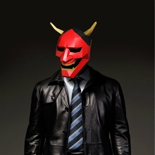 Toy Mask Paper-Craft-Model DIY 3d Halloween Cosplay Devil Red Costume Party-Gift Christmas