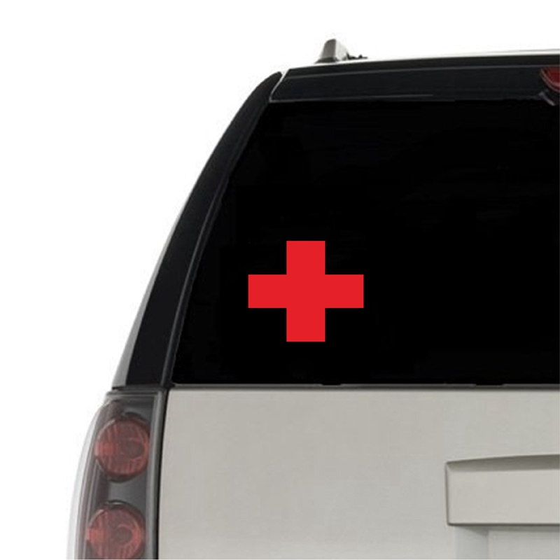 RED MEDICAL CROSS Vinyl Sticker Decal Car Window BUMPER Decor , Funny Laptop Decals For Apple MacBook Pro / Air Decoration