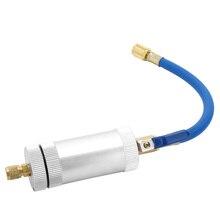 Kkmoon dye injector de ar condicionado carro injector de óleo r12 r134a r22 dye injeção refrigerante enchimento de óleo acessórios do carro