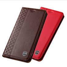 Genuine Leather holster cover credit card slot holder for Huawei Enjoy 20 Pro flip phone case for Huawei Enjoy Z coques funda(China)