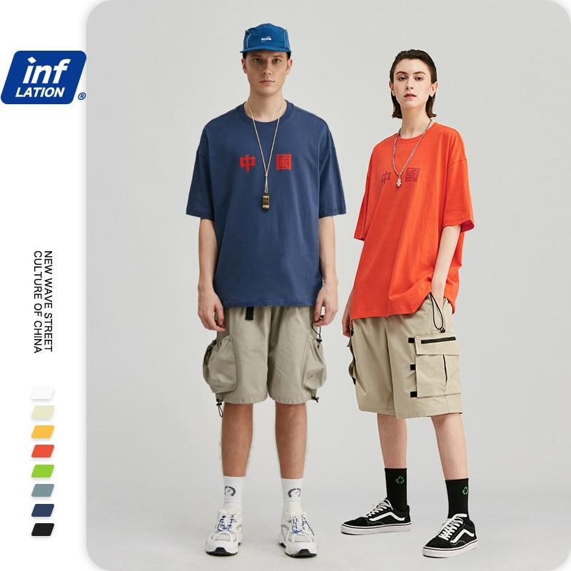 INFLATION Men Tee Shirt Homme Chinese Mens T shirts Fashion 2020 Trending Cotton Funny T shirts Short Sleeve T shirt Men 91118S
