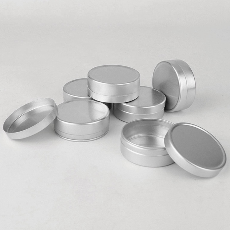 1Pc Tin box Refillable Containers 30ml Aluminum Cosmetic Small Tins Storage Jars Empty Cosmetic Screw Top Sample Containers