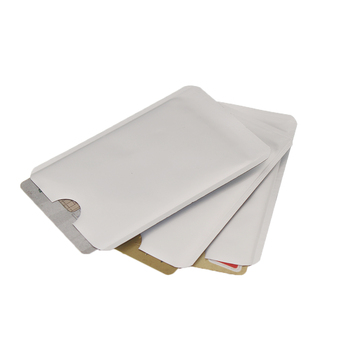 Hot Sale 500pcs Silver Anti Scan RFID Sleeve Protector Credit ID Card Aluminum Foil Holder Anti-Scan