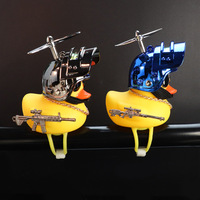 Car Interior Decoration Yellow Duck with Helmet for Bike Motor Accessories Without Lights Auto Car Accessories Duck In The Car 3