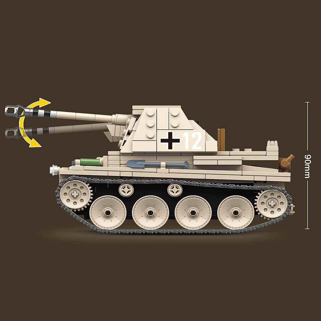 608 pièces Weasel III Anti-Tank Blaster briques bricolage petite particule militaire blocs de construction modèle ensemble assemblage jouets pour enfants cadeaux