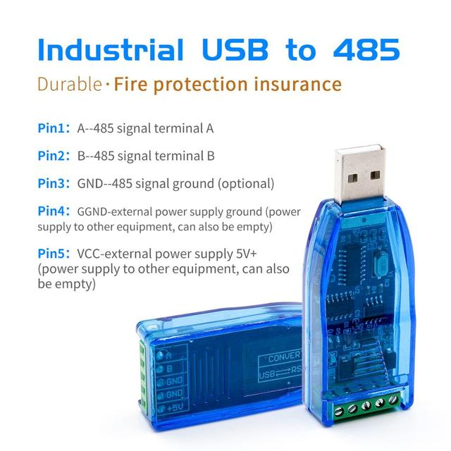 Industrial USB To RS485 Converter Upgrade Protection RS485 Converter Compatibility V2.0 Standard RS 485 A Connector Board Module
