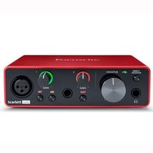 Focusrite Scarlett tarjeta de sonido para grabar micrófono, guitarra, Solo 3. ª generación, 2 entradas, 2 salidas, USB, nueva versión
