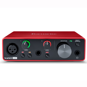 Image 1 - Interface de áudio focusrite scarlett, interface de áudio focusrite scarlett, nova versão solo de focusrite scarlett 3rd gen 2 2 entrada saída usb, & nbsp; placa de som para gravação