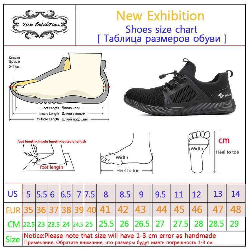 Nieuwe tentoonstelling Werk Schoenen Outdoor fashion Sneaker Anti-smashing Stalen Neus Veiligheid Boot Mannen Ademend Veiligheid Werkschoenen 36-48