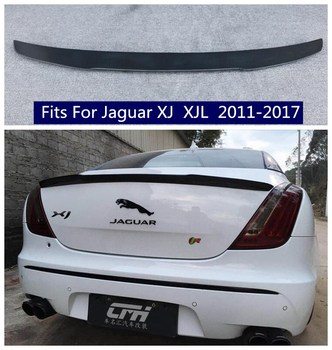 High quality Carbon Fiber/ABS Car Rear Trunk Lip Spoiler Wing Fits For Jaguar XJ  XJL 2011 2012 2013 2014 2015 2016 2017 a5 coupe carbon fiber spoiler s5 style for audi 2010 2011 2012 2013 2014 2015 2016 a5 rear bumper spoiler trunk wing styling