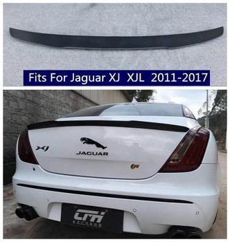 High quality Carbon Fiber/ABS Car Rear Trunk Lip Spoiler Wing Fits For Jaguar XJ  XJL 2011 2012 2013 2014 2015 2016 2017 carbon fiber mercedes benz 2011 2013 w204 c class coupe rear wing trunk spoiler