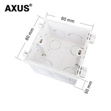 AXUS 86 boîte de jonction, européenne, britannique, prise murale, boîte de montage de commutateur, boîte en plastique antidéflagrant 146*86mm, 86*86mm