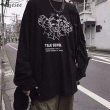 Hommes T-shirts À Manches Longues Bande Dessinée Imprimé Loisirs Chic Streetwear T-shirt Ados Harajuku Grande Taille 3XL TÉS Couples Nouveaux Hommes Rétro