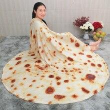 Corn Tortilla Blanket Pita Lavash Soft Throw Blanket for Bed Fleece Sofa Plaid Plush Bedspreads manta Burrito Koce