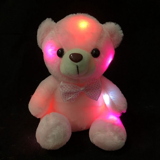 Fashion LED Colorful Glowing Luminous Plush Baby Toys Lighting Stuffed Bear Teddy Bear Lovely Gifts for Kids Girls Uncategorized Decoration Stuffed & Plush Toys Toys