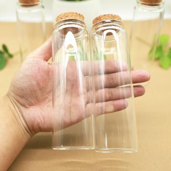 12 sztuk 47*150mm 200ml korek szklany korek do butelki pikantne słoiki do przechowywania butelki probówki pojemniki spice cukierki szklane słoiki DIY fiolka tanie i dobre opinie BOUSSAC CN (pochodzenie) 101-200 ml 10 kk47*150 12pcs Ekologiczne Szkło Pokrywa Butelki i słoiki przechowywania thick