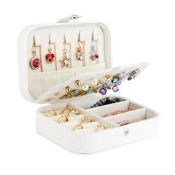 Шкатулка для украшений для путешествий, ювелирная шкатулка органайзер, футляр для хранения помады, контейнер для красоты, ожерелье