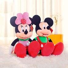 цена на Disney Mickey Minnie Doll Strawberry Series Mickey Mouse Stuffed Toy Pillow Birthday Gift Anime Plush Elf Christmas Elf