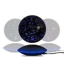 Lámpara de noche de levitación colorida electrónica de constelación magnética de 6 pulgadas novedad lámpara de noche planetario lámpara de cumpleaños Luminaria