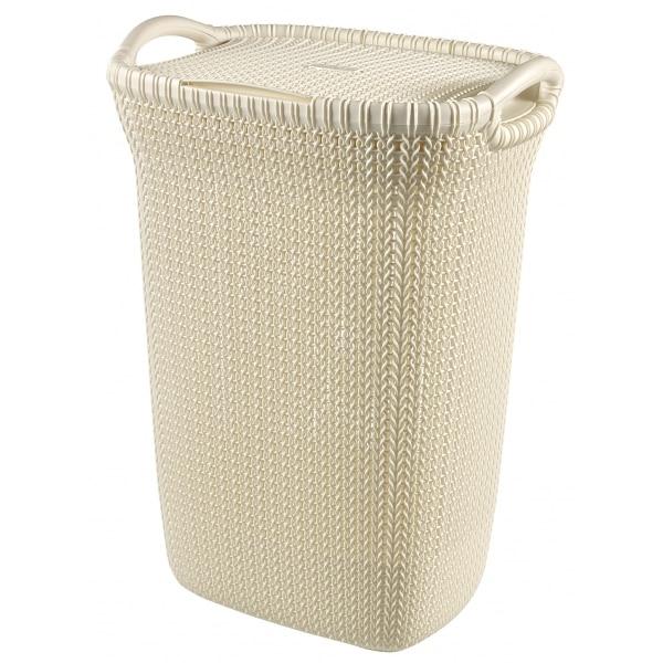 Laundry basket KNIT 57l white ...