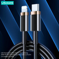USAMS PD 20W Fast Charging Type C To Lightning Cable For iPhone 12 Pro Max 11 Xr Xs 8 Plus ipad mini air Macbook USB C Charger