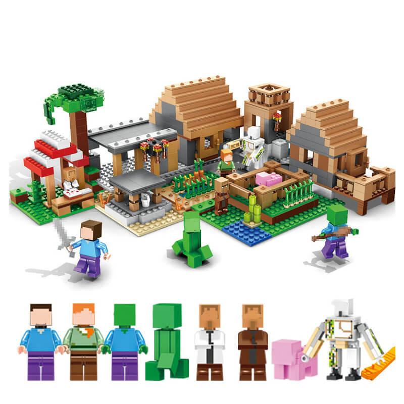 Ферма деревня строительные блоки с деревни Стив фигурки Совместимость 21128 Наборы кубиков игрушки