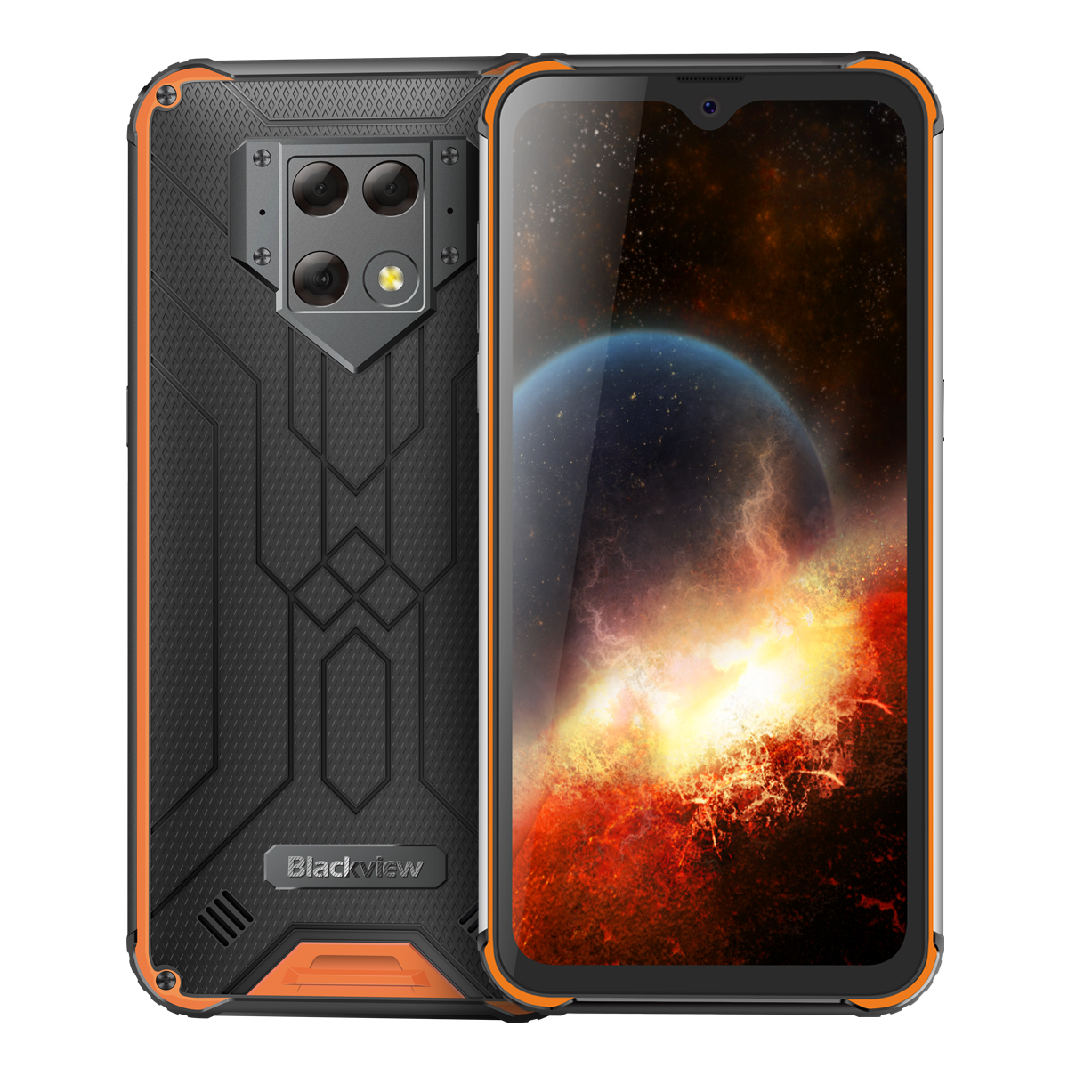 Blackview BV9800 Rugged IP69K Waterproof Helio P70 Octa-core Android 9.0 6GB+128GB Triple 48MP Camera 6580mAh 6.3