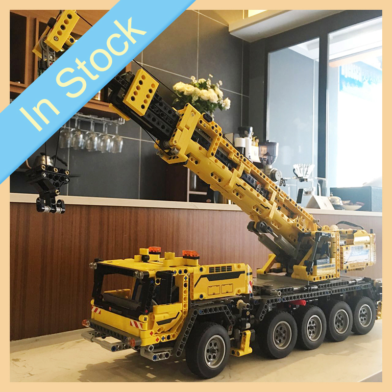 IN STOCK 20004 2606Pcs Ideas Technic Series Motor Power Mobile Crane Mk II Building Blocks Bricks Kids Toys Christmas gift 42009