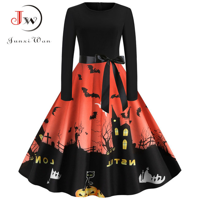Xia/&Han Womens Plus Size Dresses Halloween Hooded Lace Up Patchwork Long Dress Stitching Long Sleeve Robe