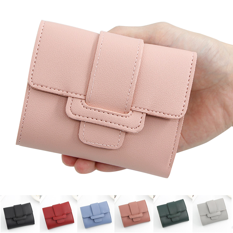 Women's Small Wallet Credit Card Female Purse Cute Student Short Clutch Lady Mini Purse 2019 New Women Wallets Factory Outlet