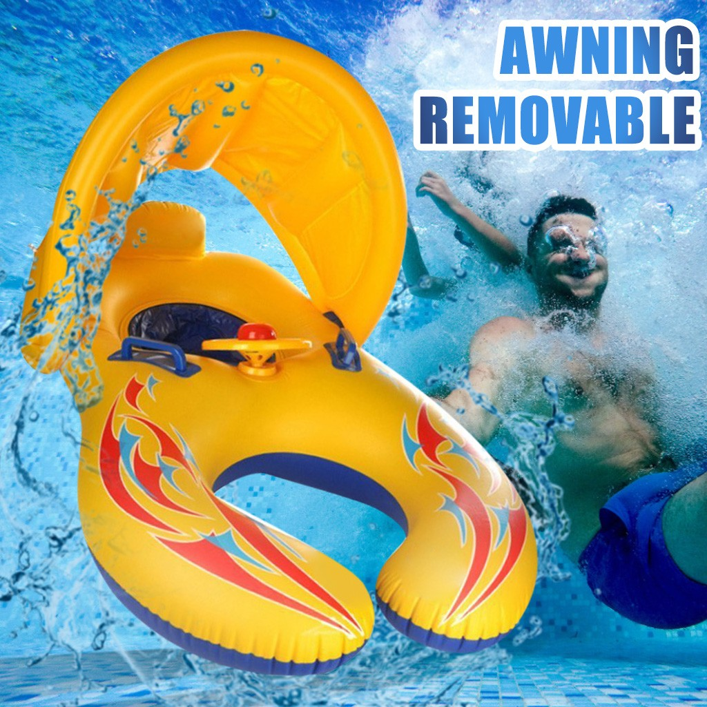 Infant Parent-Child Inflatable Swimming Ring Swimming Pool Floating Water Seat