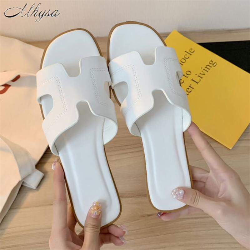 Mhysa 2020 Summer Fashion Slipper For Flat Sandals Slipper Casual Beach Slipper Women Slipper For Indoor&Outdoor Flip-flops