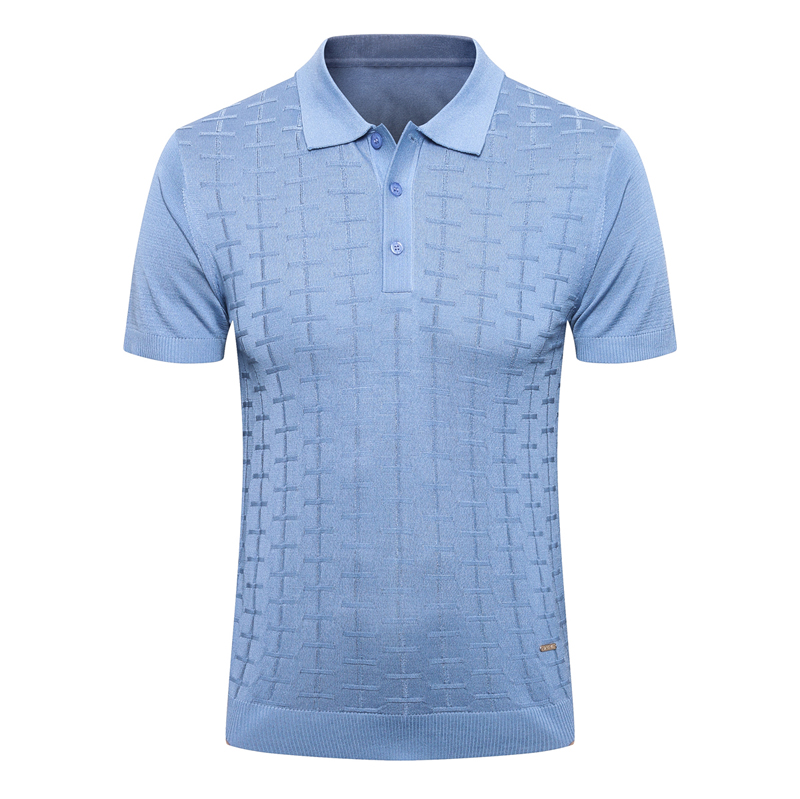 Billionaire <font><b>Polo</b></font> <font><b>shirt</b></font> silk <font><b>men</b></font> Short sleeve 2020 summer new Thin British zipper Business Casual <font><b>big</b></font> <font><b>size</b></font> M-5XL free shipping image