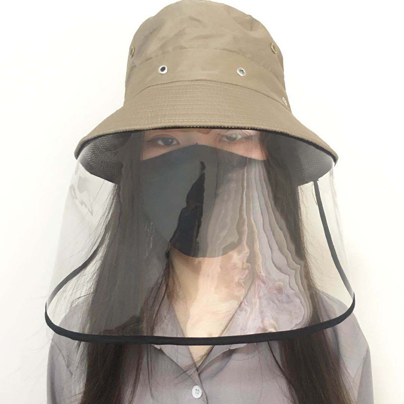 2020 Spring Summer Face Masks Hat Eye Protection Protective Cap Bucket Hat Anti-saliva Face Cover Caps