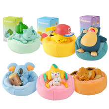 Pokemon figures Eevee Family Super Cute Sleeping Pokemon 6 Styles Blind Box Toy Doll Decoration Gift for childrens Model Toy