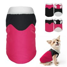 Winter Warm Pet Dog Clothes with Fur Collar Waterproof Puppy Apparel Hoodies for Autumn Costume PGM