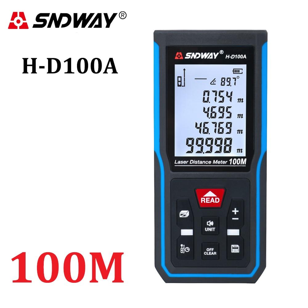 Sndway medidor de distância a laser 50m 70m 100m 120m rangefinder digital range finder trena roleta régua distância fita de medição