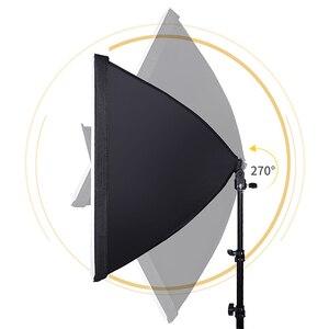 Image 4 - استوديو الصور مستطيل التصوير لينة مربع 8 Led 20 W التصوير طقم الإضاءة 2 ضوء حامل 2 لينة مربع حقيبة حمل ل كاميرا