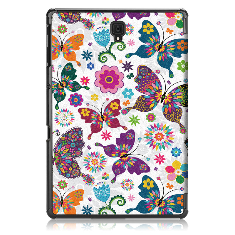 New Ultra-Thin Printed PU Leather Case For Samsung Galaxy Tab A 10.5 2018 T590 T595 T597 Magnet Smart Tablet Cover+Film+Stylus