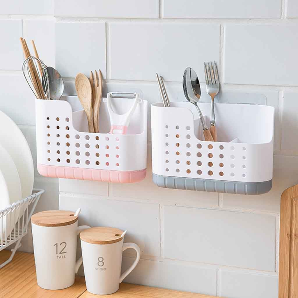 Kitchen Wall Mounted Storage Rack Drying Holder Tray Wall Mounted Spoon Chopsticks Draining Storage Rack Nov#23