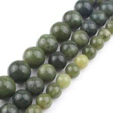 Natural Stone Beads AAA+ Genuine Canada Jade For Jewelry Making 15inch 6/8/10/12mm Spacer Diy