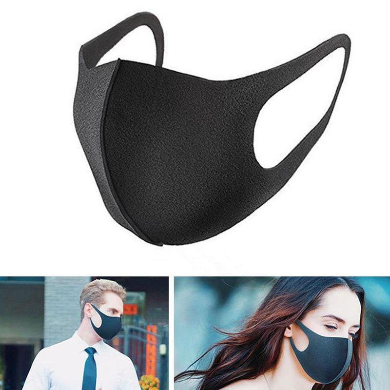 Reusable Mouth Mask Cotton Blend Dustproof Anti Dust Nose Protection Face Mouth Masks For Man Woman Adults Kids Black